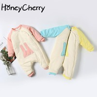 Baby Winter Long Sleeved Cotton Romper Clothes Climbing Newborn Baby Girl Romper  New Born Baby Clothes