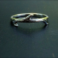 Ring,Twig Ring, Silver Twig Ring, Etched Twig Ring, Fairy Ring, SImple Ring, Silver Ring, Sterling Silver Ring