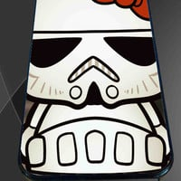 Hello Kitty Stormtrooper for iPhone 4/4s, iPhone 5/5S/5C/6, Samsung S3/S4/S5 Unique Case *76*