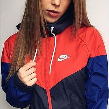 """NIKE""Fashion Hooded Zipper Cardigan Sweatshirt Jacket Coat Windbreaker Sportswear"