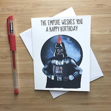 Star Wars Darth Vader Happy Birthday Card FREE SHIPPING
