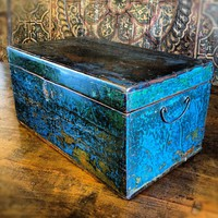 Teak Distressed Antique Box