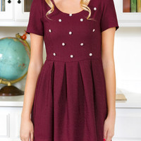Grandly Garnet Party Dress