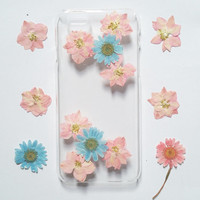 iPhone 4s Case, iPhone 4s Case Clear, Pressed Flower iPhone 4 Case, Clear iPhone 4s Case, clear iPhone 4s Case, pink daisy iphone case