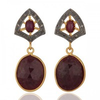 Burgundy Wine Vintage Style Earrings
