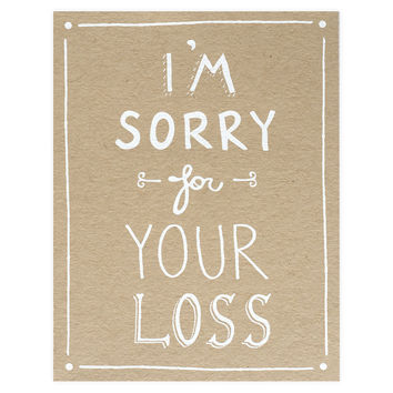 Sweet image intended for sorry for your loss printable cards