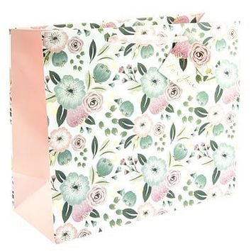 Painted Flowers Large Gift Bag