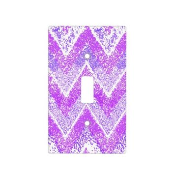 pink chevron light switch cover