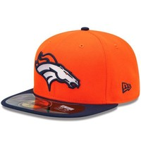 New Era Denver Broncos On-Field Performance 59FIFTY Fitted Hat - Orange/Navy Blue