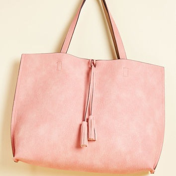 Two Praises at Once Reversible Bag in Dusty Rose | Mod Retro Vintage Bags | ModCloth.com