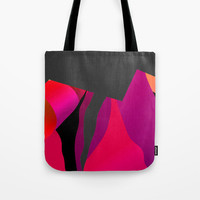 Small Tote - Lunch Tote Bag -  13 x 13 Inch Tote Bag - Lunch Bag - Art Tote Bag - Pink Tote Bag - Abstract Art Bag  - Modern Design Tote