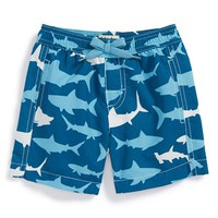 Infant Boy's Hatley 'Lots of Sharks' Swim Trunks
