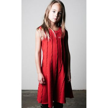 Soho Panel Dress - Racing Red (Size 6/7 only)