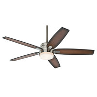 Hunter Fans 59039 Windemere Brushed Nickel Two Light 54-Inch Ceiling Fan with Light and Remote