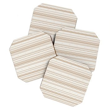 Allyson Johnson Tan Aztec Coaster Set