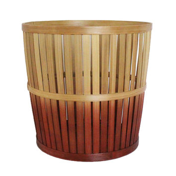 Ombre Medium Bamboo Storage Basket