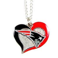 New England Patriots Swirl Necklace