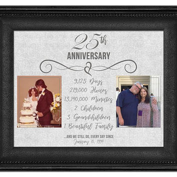 We Still Do 25th Anniversary Print - Then and Now Silver Anniversary Gift Print - Parent Anniversary Gift - Photo Print - 25th Wedding