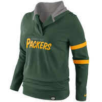 Green Bay Packers Nike Women's Play Action Hooded Top – Green