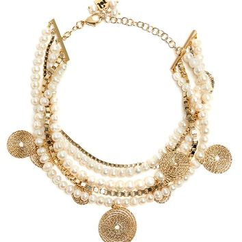 Armonia faux-pearl embellished necklace   Rosantica By Michela Panero   MATCHESFASHION.COM US