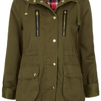 Tall Washed Hooded Jacket - Topshop