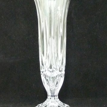 Bud Vase, Pressed Glass, Depression Glass, Fluted Rim, Clear Glass, Posy, Glassware, flower arrangement, arranging, homeware, BV105