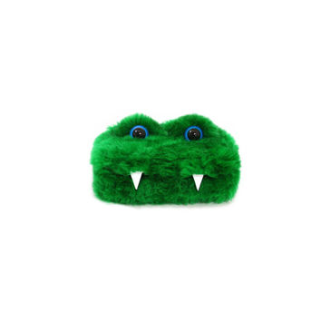Ernest the Eco-Friendly Monster - Green furry altered Altoids tin - Kawaii