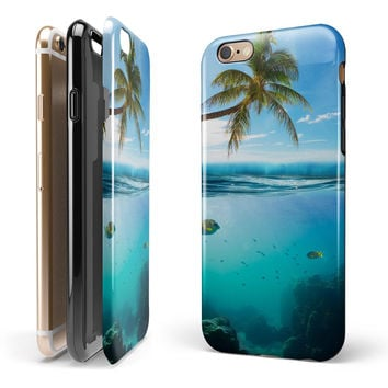 Underwater Reef iPhone 6/6s or 6/6s Plus 2-Piece Hybrid INK-Fuzed Case