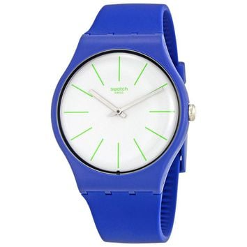 Swatch Bluesounds White Dial Mens Silicone Watch SUON127