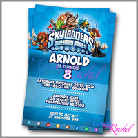 skylanders birthday party Design - Invitation Card Design For Birthday Party Kid