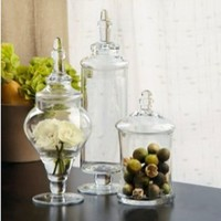 Aris Apothecary Jars Clear/Set of 3