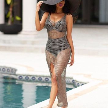 Hollow Out See Through Swimwear Swimsuit Bathing Suit Cover Up