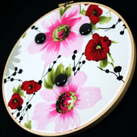 Asian Inspired Floral Earring Wall Display