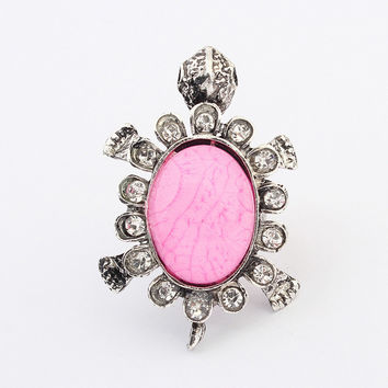 Stylish New Arrival Gift Shiny Jewelry Strong Character Vintage Metal Resin Gemstone Accessory Ring [4918803332]