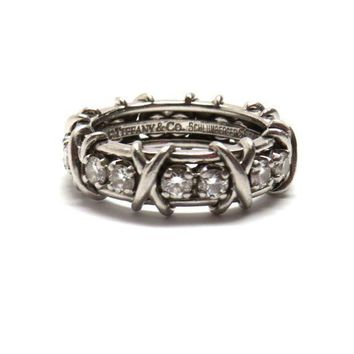 Tiffany & Co. Schlumberger Sixteen Stone Platinum Diamond Ring
