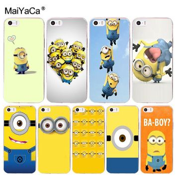 MaiYaCa Minion Boys Amazing landscape hard pc Phone Case for iPhone 8 7 6 6S Plus X 10 5 5S SE XR XS XS MAX Coque Shell