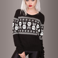 Bad To the Bone Skull Sweater
