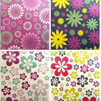 Two Pocket Folders Flowers Glitter - CASE OF 50
