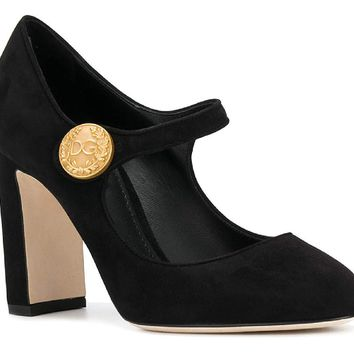 Dolce & Gabbana Women's Suede Leather Pumps - Heels Shoes