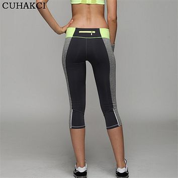 Sexy Women's Skinny Workout Leggings Light Reflecting Fitness Trousers Adventure Time Exercise Pants Capri Movement Leggins K111