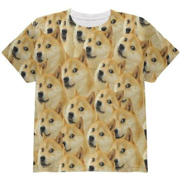 DCCKJY1 Doge Meme Funny All Over Youth T Shirt