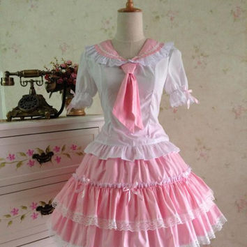 Hot Sale Sailor Dress  School Lolita Dress for Girl