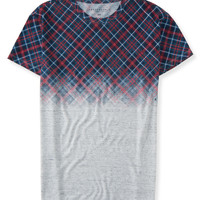 Plaid Fade-Out Tee