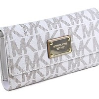 Michael Kors Jet Set Item PVC Checkbook Wallet