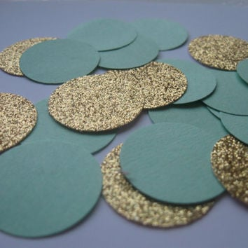 Blue and Bronze Glitter Confetti Party Confetti Baby Shower Confetti Turquoise Wedding Confetti Party Decor Celebration Ceremony Reception