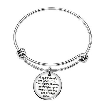 Bangle Bracelet Graduation Gift For Best Friend Good Friend Are Like StarsYou Dont Always See Them