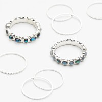 Free People Fire Opal Band Ring Set