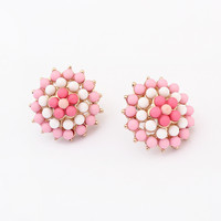 Korean Ice-cream Floral Earrings [4919092996]