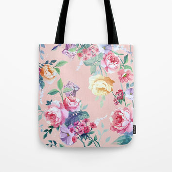 Floral pattern 2 Tote Bag by printapix