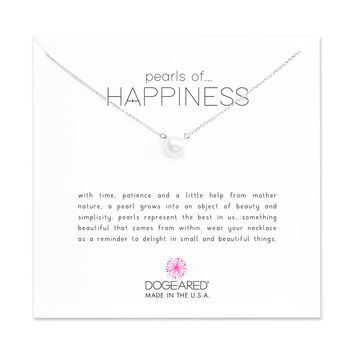 Pearls Of Happiness Large Pearl Necklace, Sterling Silver | Dogeared